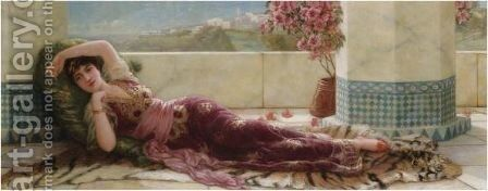 Odalisque by Eisman Semenowsky - Reproduction Oil Painting