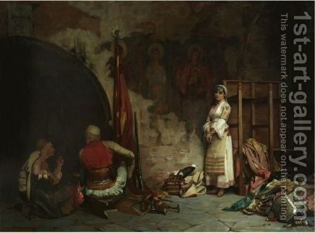 The Captive (Turkish Plunder) by Theodoros Rallis - Reproduction Oil Painting