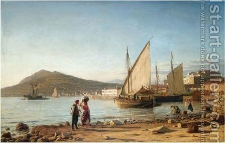 Morning In The Bay Of Corfu by Christian Eckardt - Reproduction Oil Painting