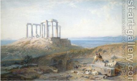 Sounion by Harry John Johnson - Reproduction Oil Painting