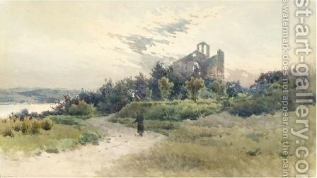 A Church By The Coast, Corfu by Angelos Giallina - Reproduction Oil Painting