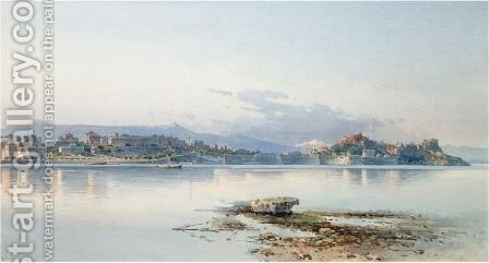 View Of Corfu 6 by Angelos Giallina - Reproduction Oil Painting