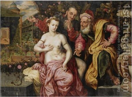 Susanna And The Elders by (after) Frans, The Elder Floris - Reproduction Oil Painting