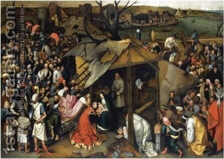 The Adoration Of The Magi 2 by (after) Pieter The Younger Brueghel - Reproduction Oil Painting