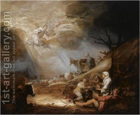 The Annunciation To The Shepherds 2 by Benjamin Gerritsz. Cuyp - Reproduction Oil Painting