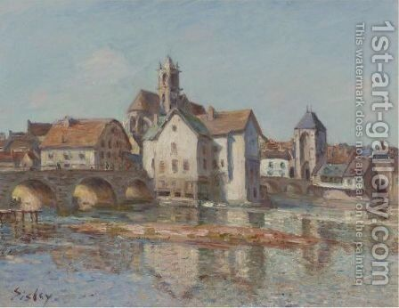 Le Pont De Moret 2 by Alfred Sisley - Reproduction Oil Painting