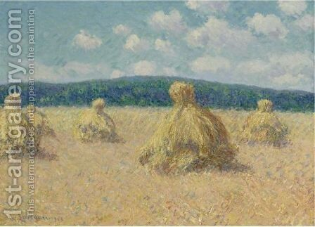 Meules by Gustave Loiseau - Reproduction Oil Painting