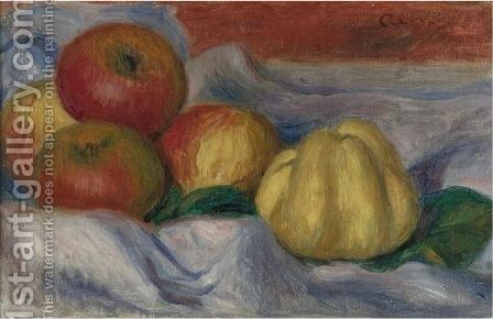 Nature Morte Aux Pommes Et Coings by Pierre Auguste Renoir - Reproduction Oil Painting