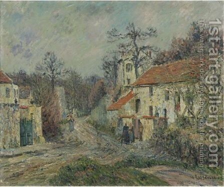 Paysage D'Hiver A Chaponval by Gustave Loiseau - Reproduction Oil Painting