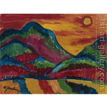 Oberstdorf (Upper Village) by Alexei Jawlensky - Reproduction Oil Painting