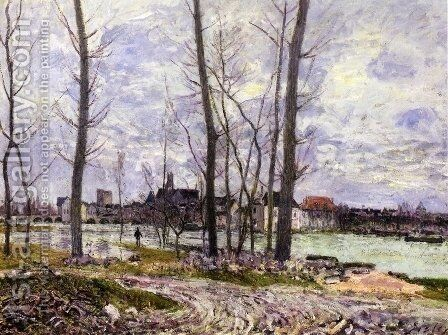 L'Inondation A Moret-Sur-Loing by Alfred Sisley - Reproduction Oil Painting