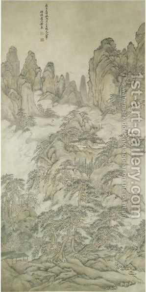 Landscape by Huang Ding - Reproduction Oil Painting