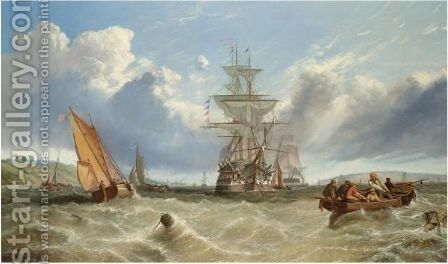 On The Medway, Early Morning by Alfred Green - Reproduction Oil Painting