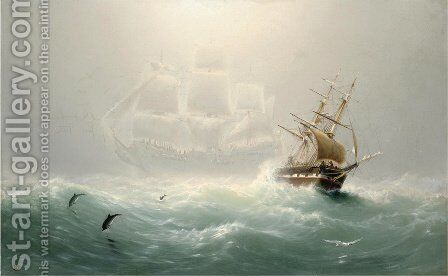 The Flying Dutchman by Charles Temple Dix - Reproduction Oil Painting