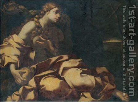 The Penitent Magdalene 3 by Neapolitan School - Reproduction Oil Painting