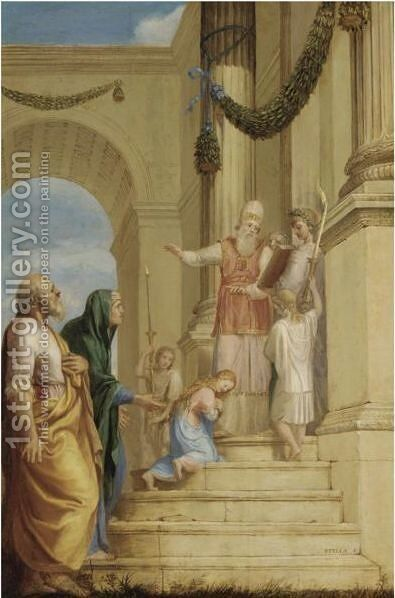 The Presentation Of The Virgin In The Temple by Jacques Stella - Reproduction Oil Painting