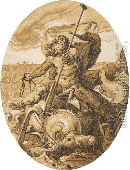 Neptune by Hendrick Goltzius - Reproduction Oil Painting