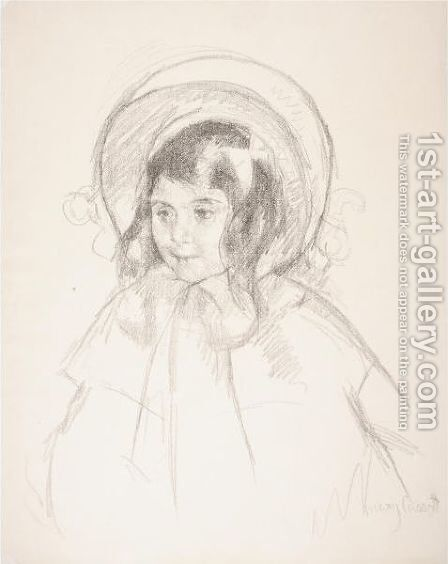 Sara Wearing Her Bonnet And Coat by Mary Cassatt - Reproduction Oil Painting