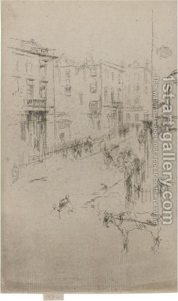 Alderney Street by James Abbott McNeill Whistler - Reproduction Oil Painting