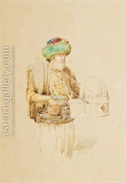 Turkish Characters by Amadeo Preziosi - Reproduction Oil Painting