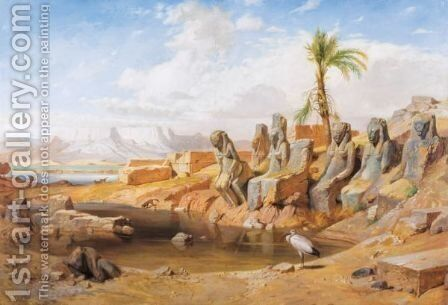 The Mout Temple In Karnak by Carl Friedrich H. Werner - Reproduction Oil Painting