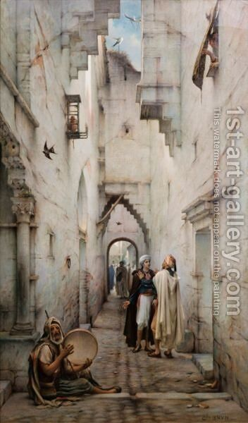 Street In Constantine by Guillaume Charles Le Brun - Reproduction Oil Painting