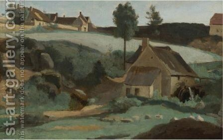 Morvan, Petit Moulin by Jean-Baptiste-Camille Corot - Reproduction Oil Painting