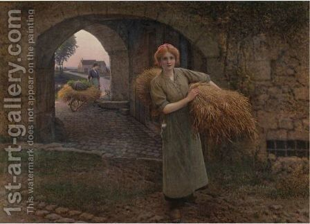 Carrying The Sheaves by Camille Felix Bellanger - Reproduction Oil Painting