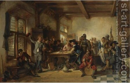 Pay Day by Herman Frederik Carel ten Kate - Reproduction Oil Painting