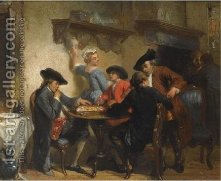 Figures In An Interior by Herman Frederik Carel ten Kate - Reproduction Oil Painting