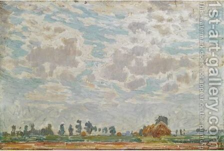A Clouded Sky Above A Belgian Farmhouse by Emile Claus - Reproduction Oil Painting