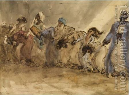 Oriental Dancers by Marius Bauer - Reproduction Oil Painting