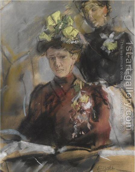 'Bij De Modiste' by Isaac Israels - Reproduction Oil Painting