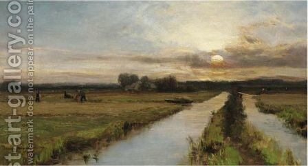 The End Of The Day by David Farquharson - Reproduction Oil Painting