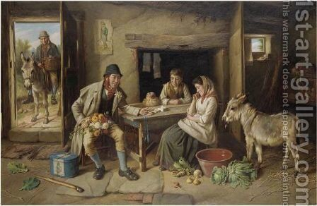 A Gift For The Lady by Charles Hunt - Reproduction Oil Painting