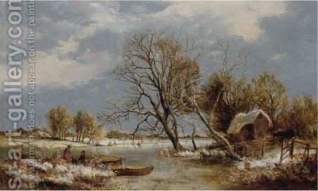 Winter On The Stour by Sidney Richard Percy - Reproduction Oil Painting