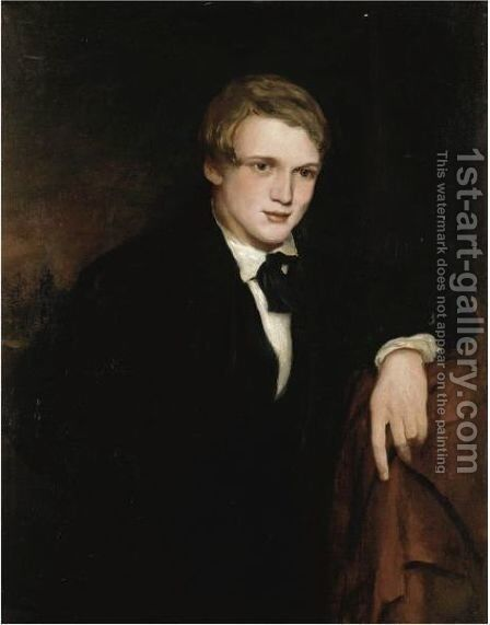 Portrait Of William Powell Frith As A Young Man by (after) Douglas Cowper - Reproduction Oil Painting