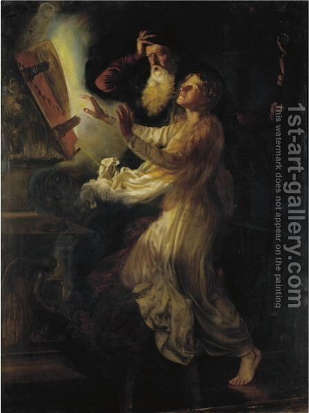 Merlin And The Enchantress by (after) Joseph Walter West - Reproduction Oil Painting