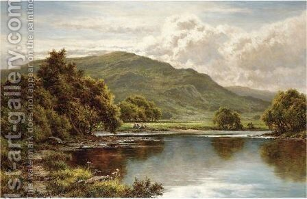 In The Lledr Valley, North Wales by Henry Hillier Parker - Reproduction Oil Painting