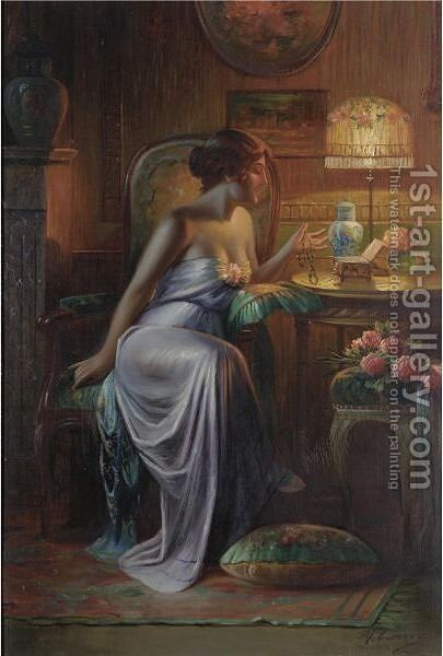 The Jewellery Box by Max Carlier - Reproduction Oil Painting