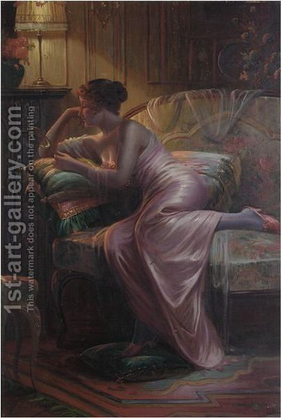 The Mirror by Max Carlier - Reproduction Oil Painting