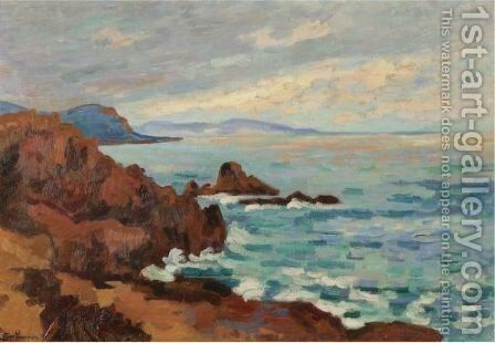 Soleil Couchant, Le Trayas-Agay by Armand Guillaumin - Reproduction Oil Painting