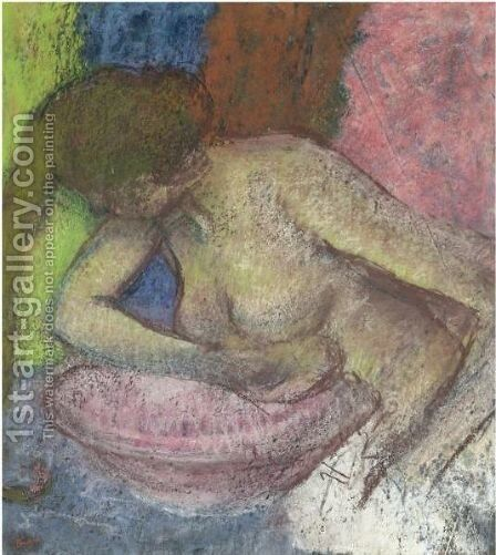 Femme A Sa Toilette 4 by Edgar Degas - Reproduction Oil Painting
