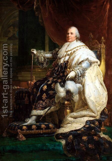 Portrait Of Louis XVIII, King Of France (1755-1824) by (after) Baron Francois Gerard - Reproduction Oil Painting