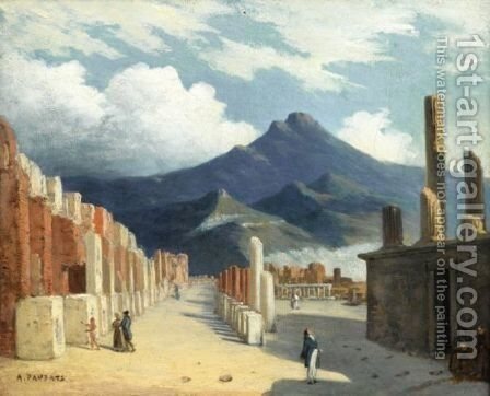 Vue De Pompei by Charles-Philippe Lariviere - Reproduction Oil Painting