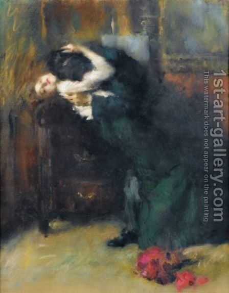 Le Baiser by Albrogio Alciati - Reproduction Oil Painting