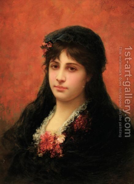 Portrait D'Une Espagnole by Emile Eisman Semenovski - Reproduction Oil Painting