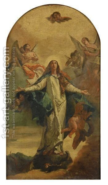 The Immaculate Conception by (after) Giovanni Battista Tiepolo - Reproduction Oil Painting