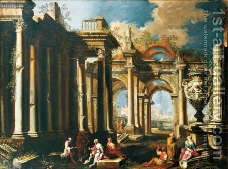 Caprices Architecturaux by Alberto Carlieri - Reproduction Oil Painting