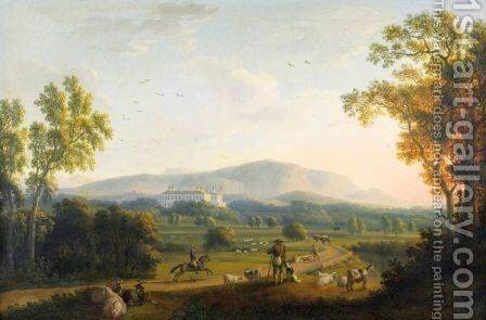 Vue De Persano by Jakob Philippe Hackert - Reproduction Oil Painting